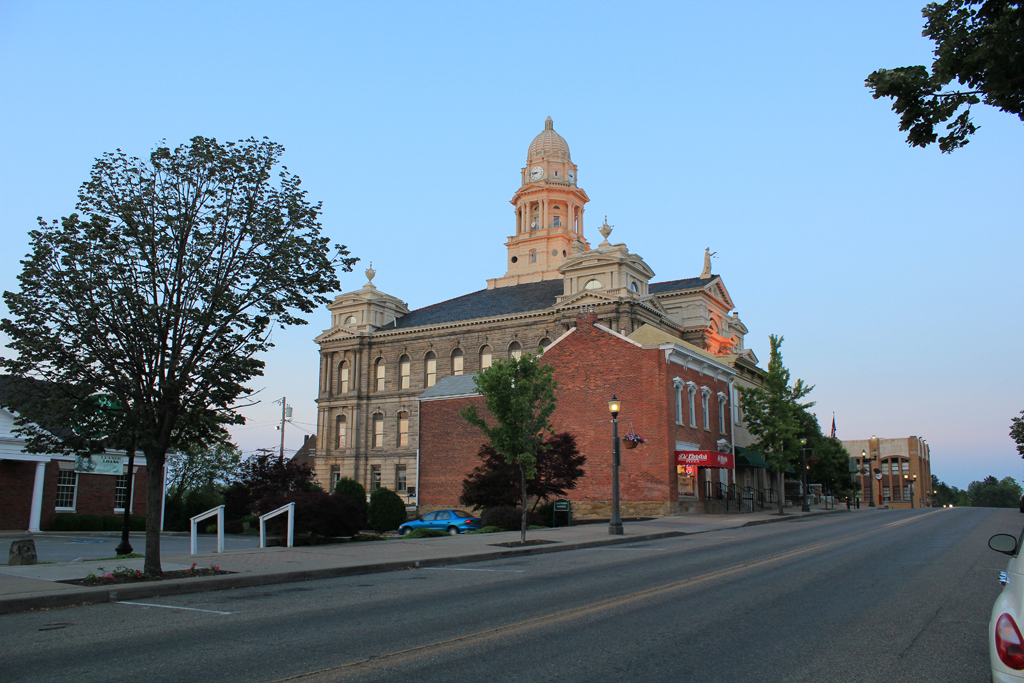 Belmont County Courthouse St Clairsville Ohio Civic