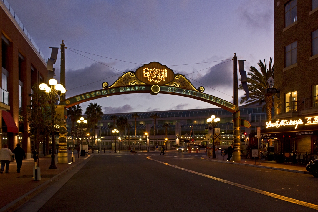 Gaslamp Archway; Gaslamp Quarter, San Diego – Civic Arts ...