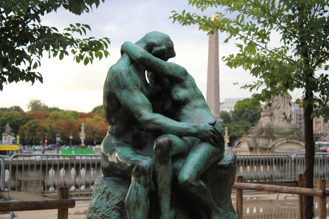 Le Baiser (The Kiss); Tuileries Garden, Paris, France