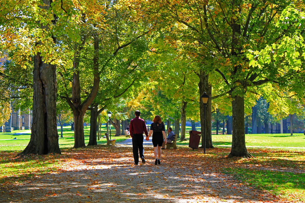 Middle Path; Kenyon College, Gambier, Ohio