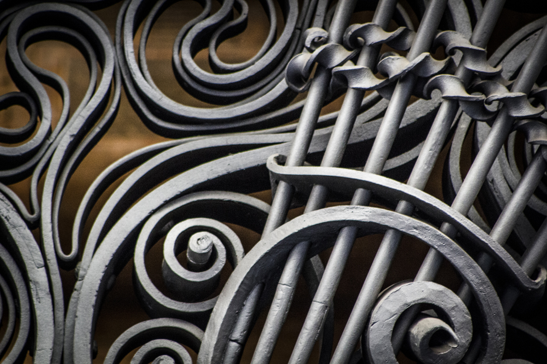 Wrought iron detail at Palau Guell