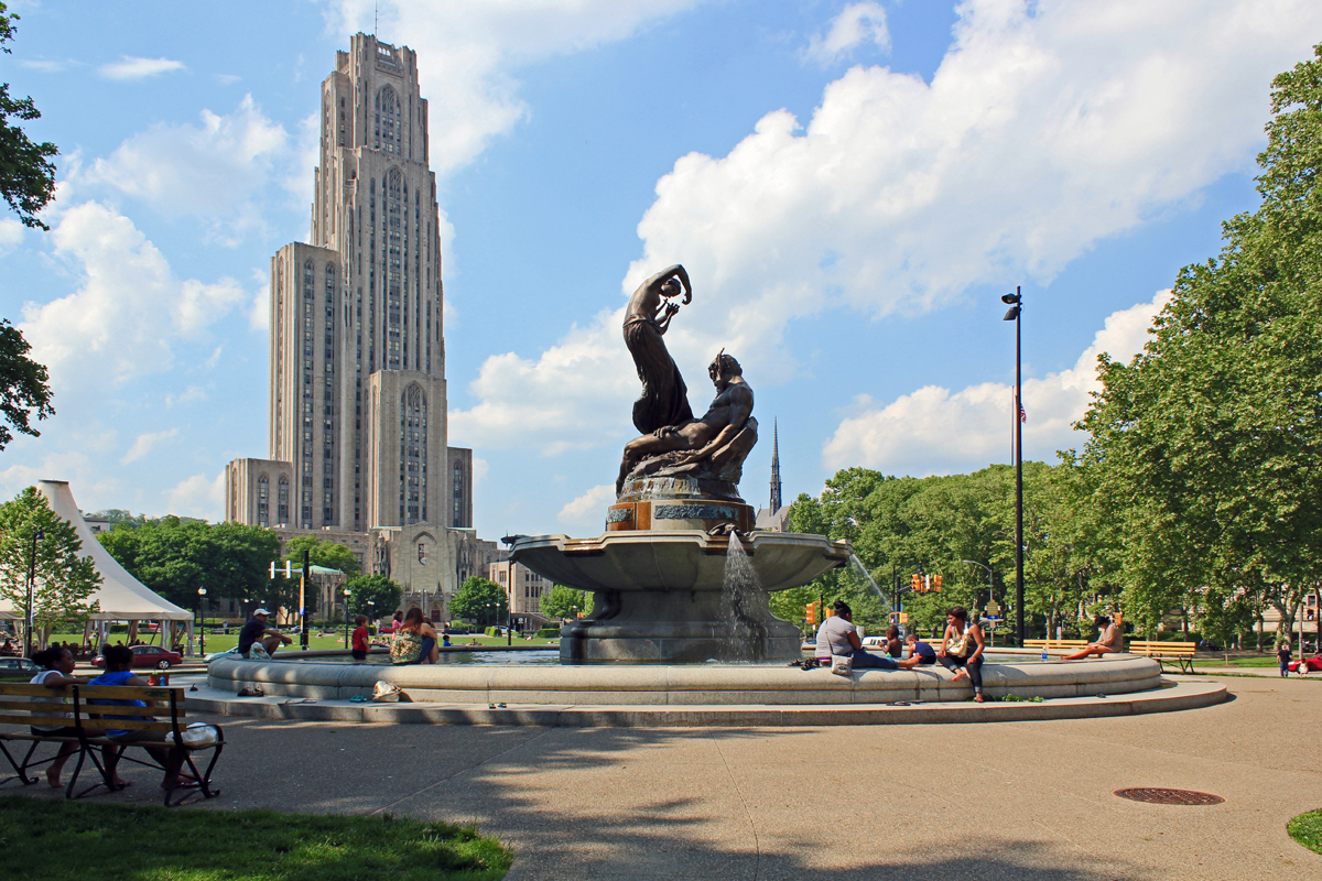 Mary Schenley Memorial Fountain; Oakland, Pittsburgh ...